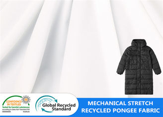 Mechanical Stretch Waterproof Pongee Padded Polyester 62GSM Down Jacket Fabric